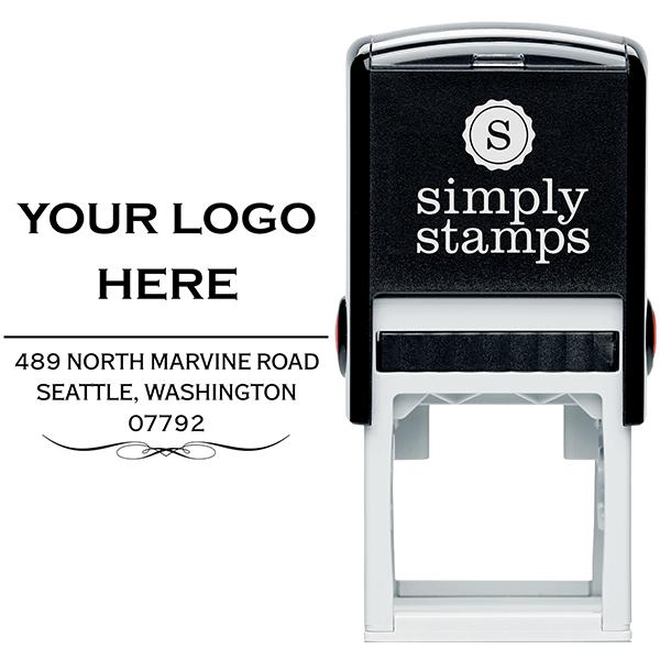 Vintage Logo Address Stamp Body and Design