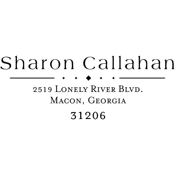 Callahan Diamond Return Address Stamp