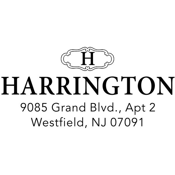 Small Harrington Monogram Return Address Stamp