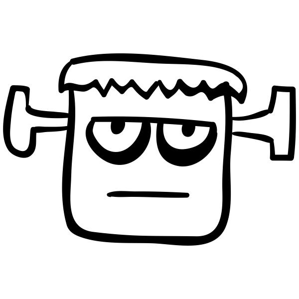 Frankenstein Monster Halloween Craft Rubber Stamp