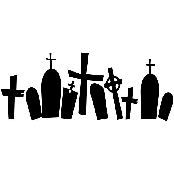 Grave Yard Halloween Craft Rubber Stamp