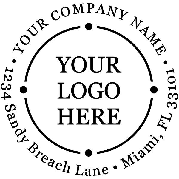 Orbit Styled Round Logo Stamper