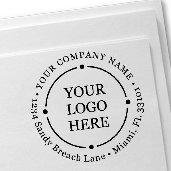 Orbital Round Logo Stamp Imprint Example