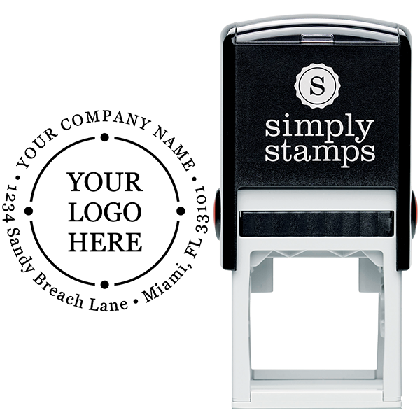 Orbital Round Logo Stamp Body and Design