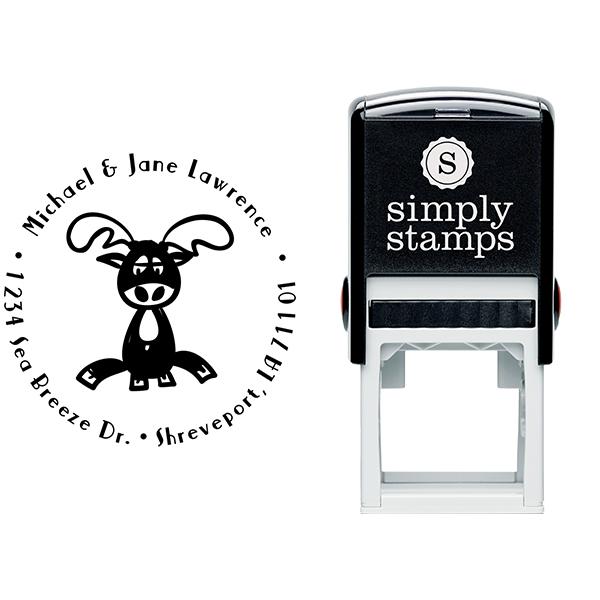 Lazy Reindeer Return Address Stamp Body and Design