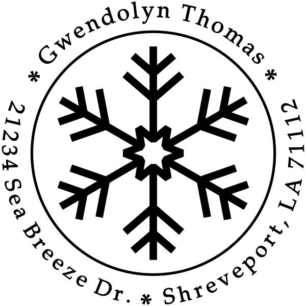 Cute Snowflake Custom Return Address Stamp