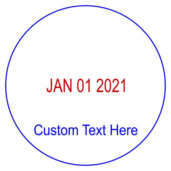 Custom Bottom Line Round Dater Stamp