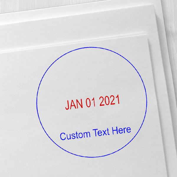Custom Bottom Line Round Dater Imprint Example