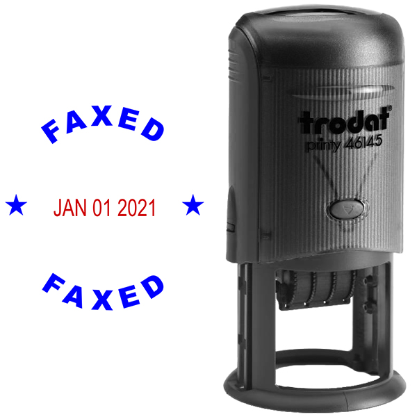 Round Self-Inking Dater Faxed Stamp Body and Design