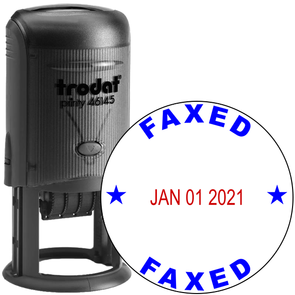 Round Self-Inking Dater Faxed Stamp