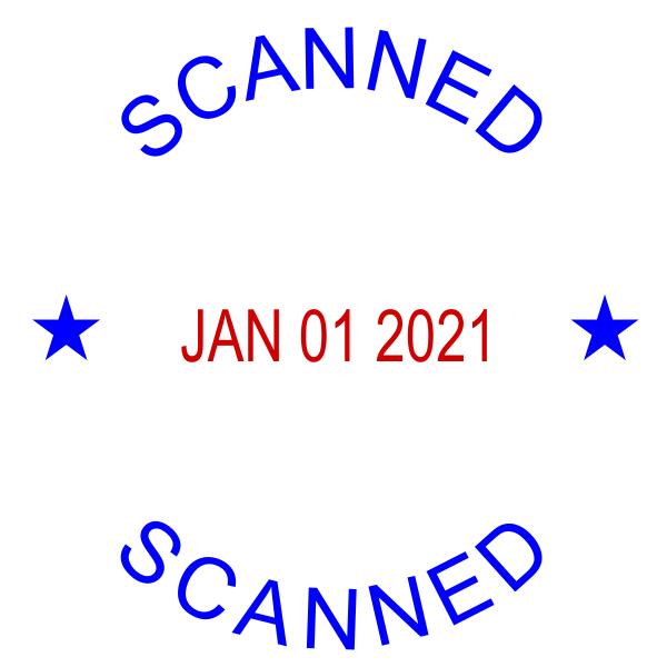 Round Self-Inking Dater Scanned Stamper