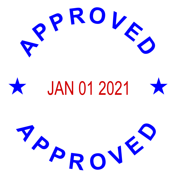 Round Self-Inking Dater Approved Stamper