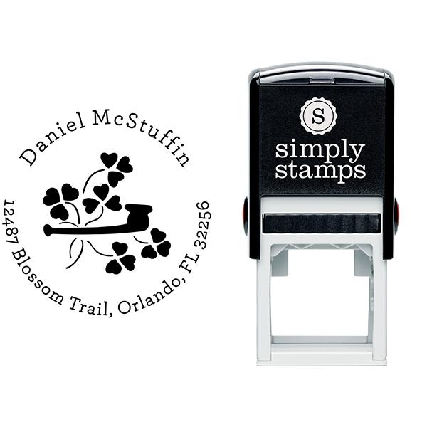 Heart Shamrock Pipe Address Stamp Body and Design