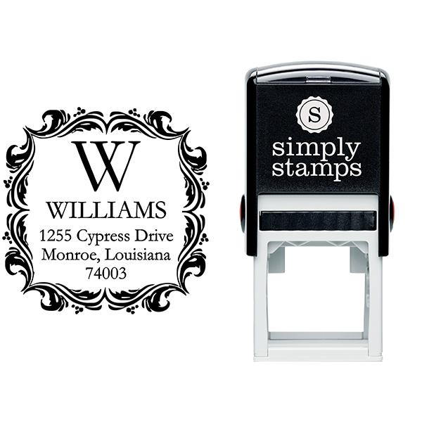 Ornament Border Return Address Stamp Stamp Body and Imprint