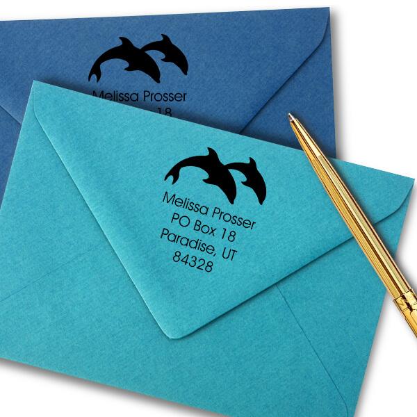 Dolphin Round Stamp Imprint Example