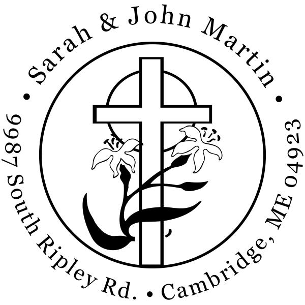 Easter Cross Return Address Stamp