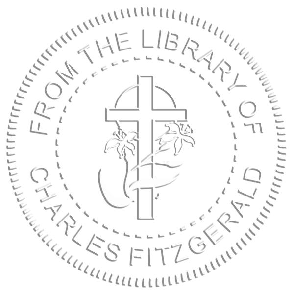 Religious Cross & Lily Embosser Seal