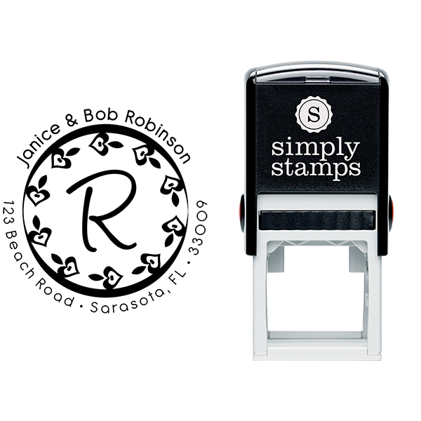 Hearts Letter Address Stamp Body and Design
