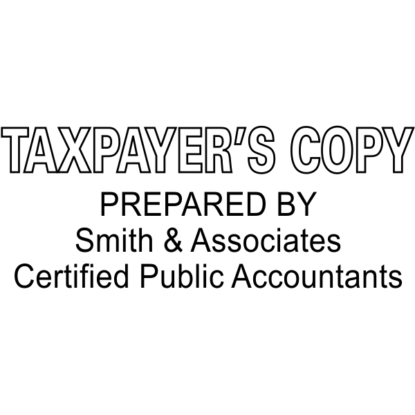 Taxpayer's Copy Prepared by company and certifications
