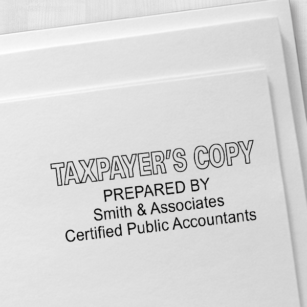 Taxpayer Copy Stamp Imprint Example