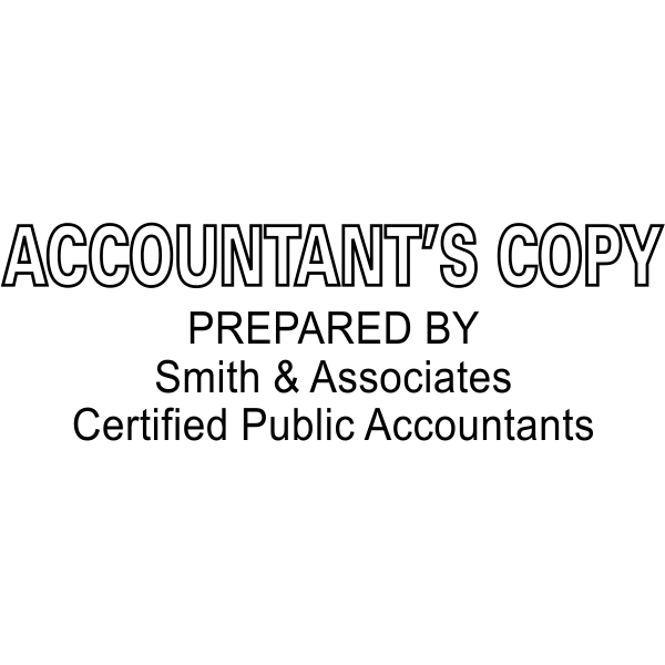 Accountant's Copy Prepared By Company and certifications