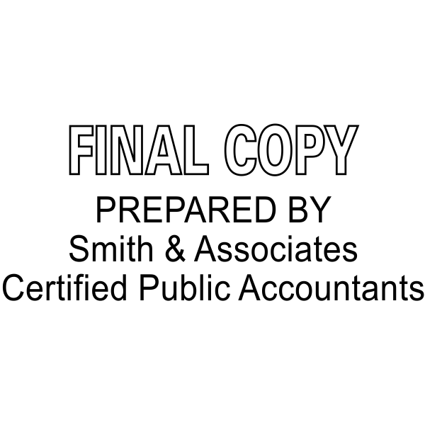 Final Copy Prepared By Company and Certifications