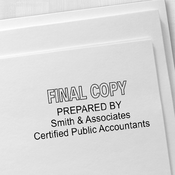 Final Copy Stamp Outlined Imprint Example