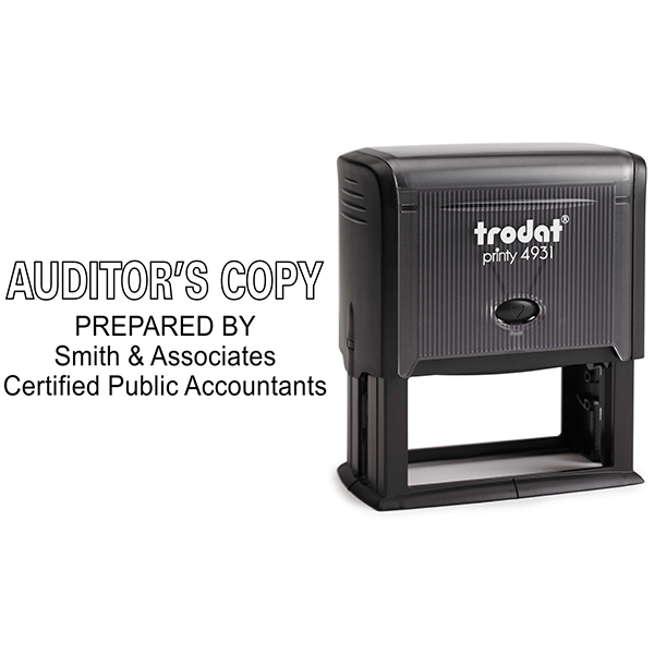 Auditors Copy Stamp Outlined Body and Design