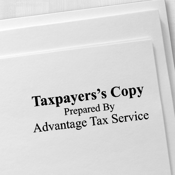 Tax Copy Stamp Imprint Example
