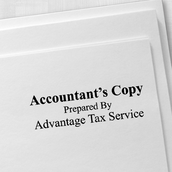 Account Copy Stamp Bold Imprint Example