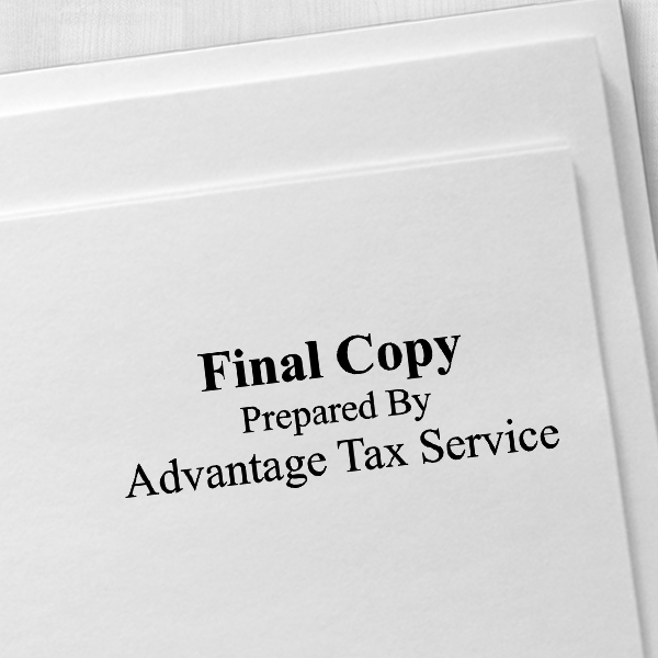 Final Copy Stamp Bold Imprint Example