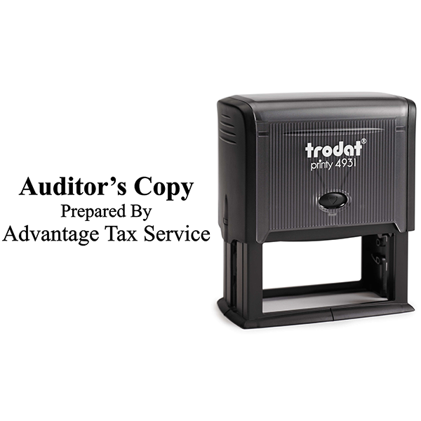 Auditors Copy Stamp Bold Body and Design