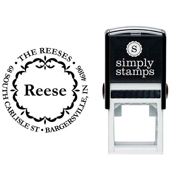 Decor Circle Stamp Stamp Body and Imprint