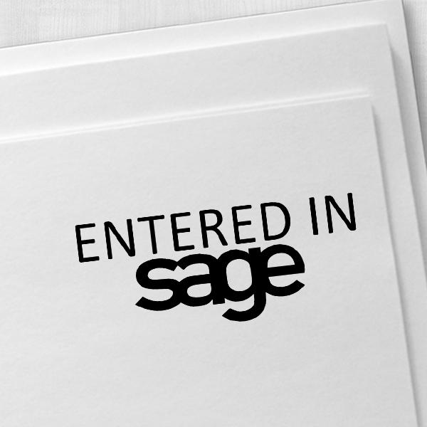 Sage Stamp Imprint Example