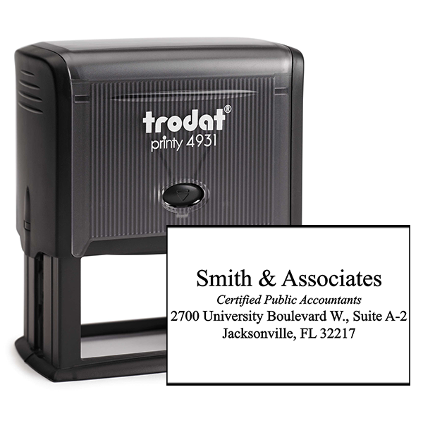 Company Title Address Stamp