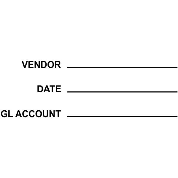 Vendor: info Date: info GL Account: info