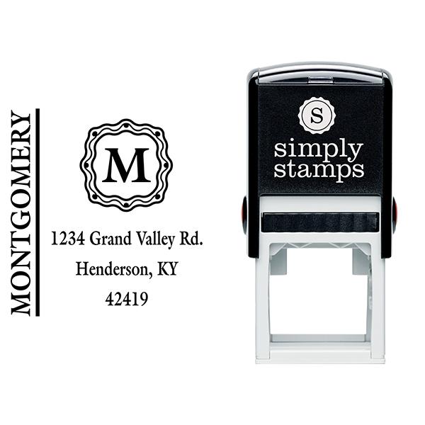 Montgomery Monogram Address Stamp Body and Design