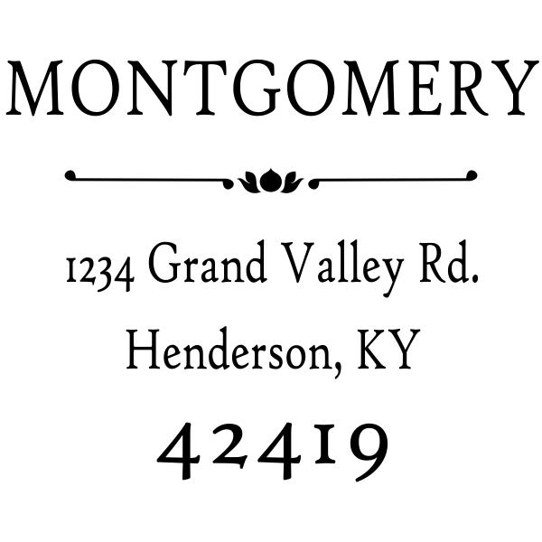 Montgomery flower deco underlined monogram