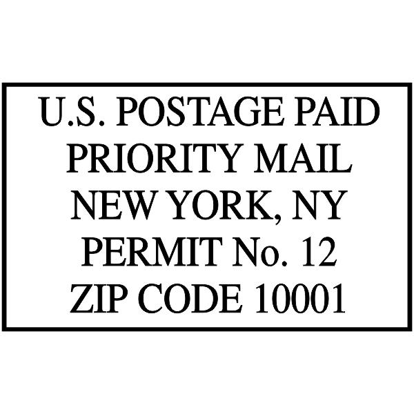 US Postage Paid Standard Mail Stamp