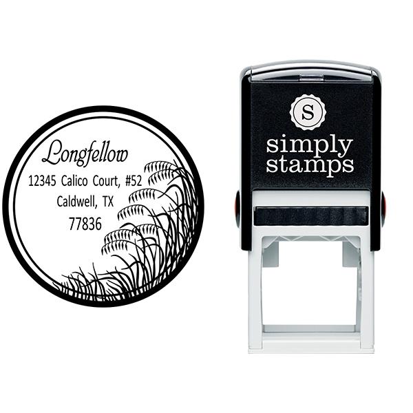 Salt Marsh Grass Return Address Stamp Body and Design