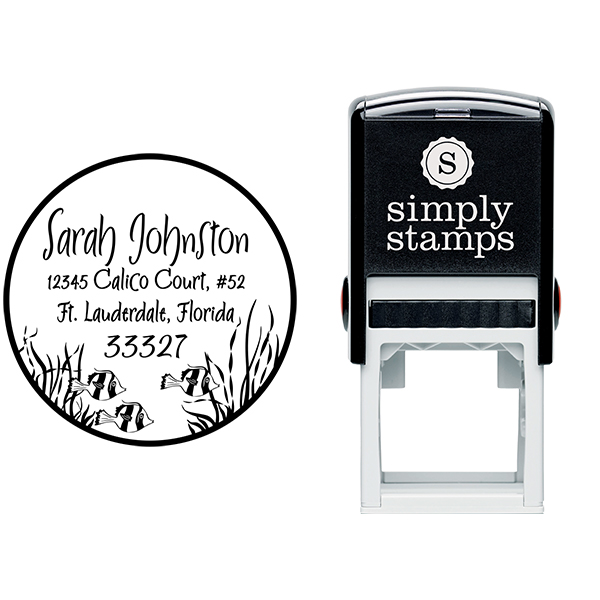 Fish in the Sea Return Address Stamp Body and Design