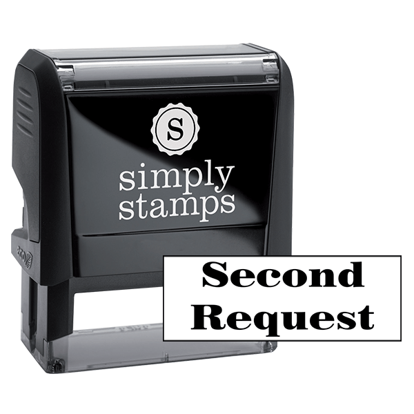 Second Request Office Rubber Stamp