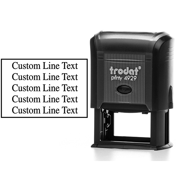 Customized 5 Line Postage Paid Stamp Body and Design