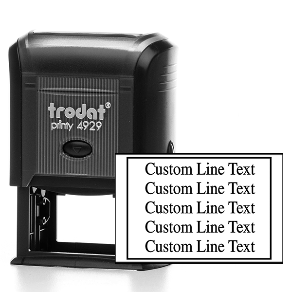 Customized 5 Line Postage Paid Stamp