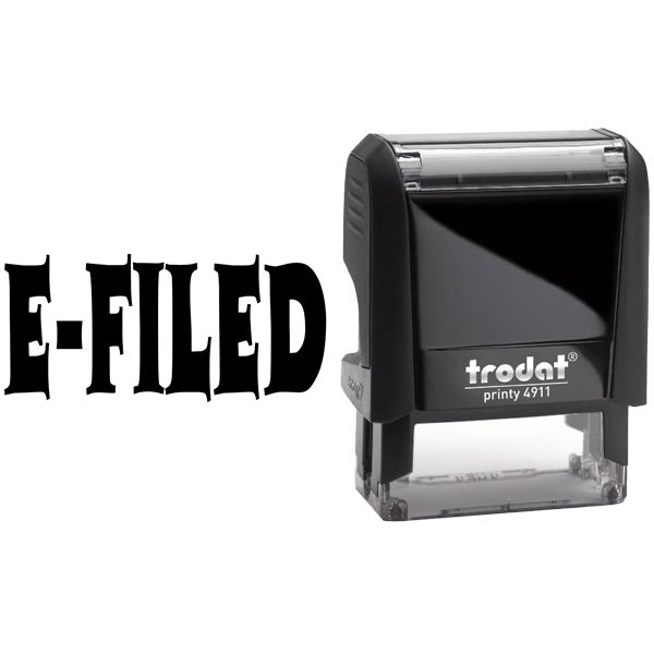 E-Filed Office Stock Stamp Body and Design