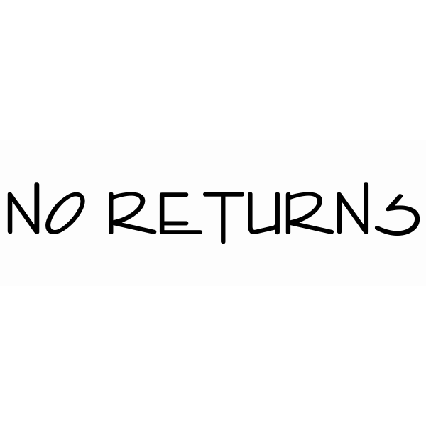 No Returns Stamp