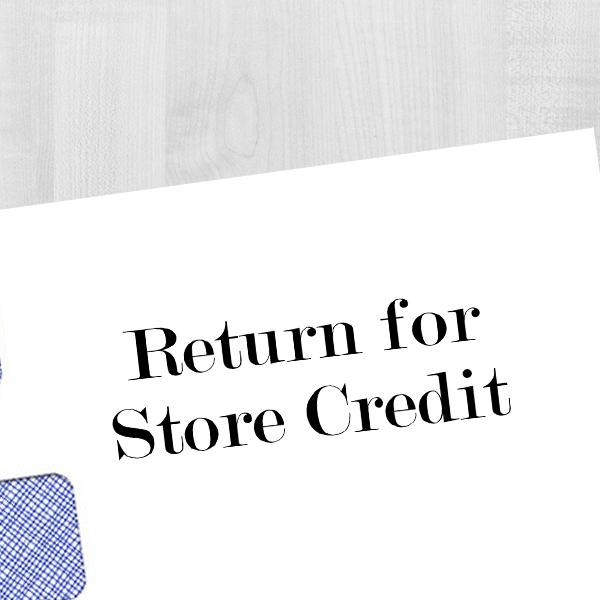 Return for Store Credit Stamp