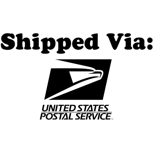 SHIPPED VIA USPS Stock Stamp