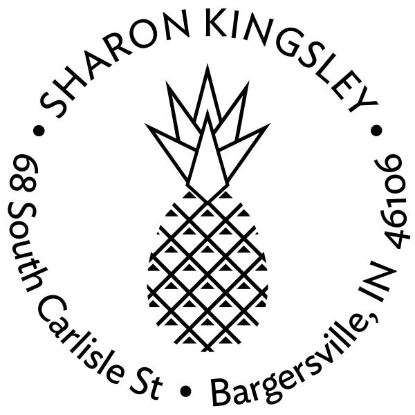 Kingsley Pineapple Address Stamp