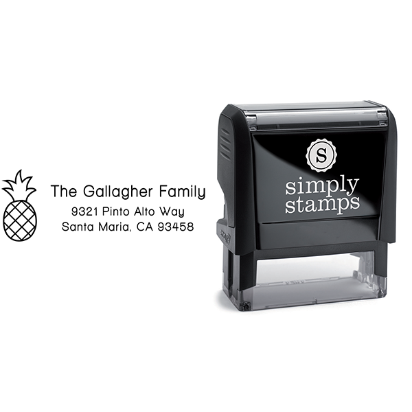 Gallagher Pineapple Address Stamp Body and Design